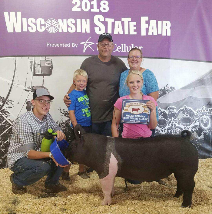 Reserve Grand Champion Hampshire Barrow